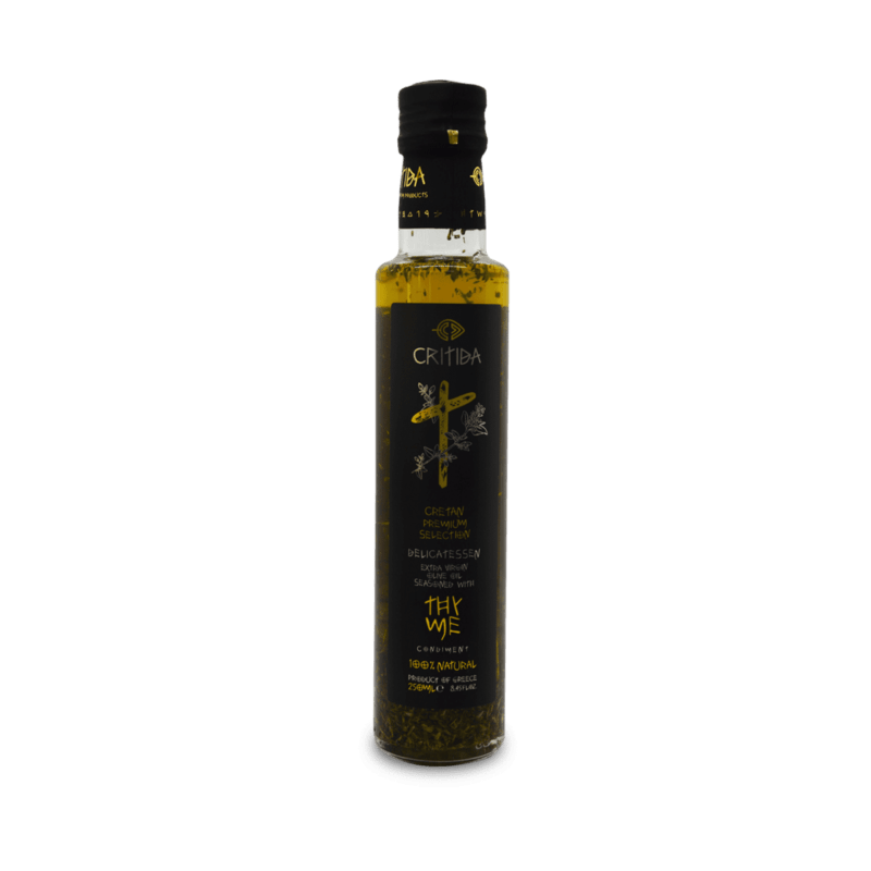 Huile d'olive Extra Vierge Aromatisée au thym 250ml